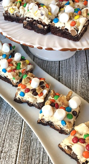 Chunky Peanut Butter Brownie Bars