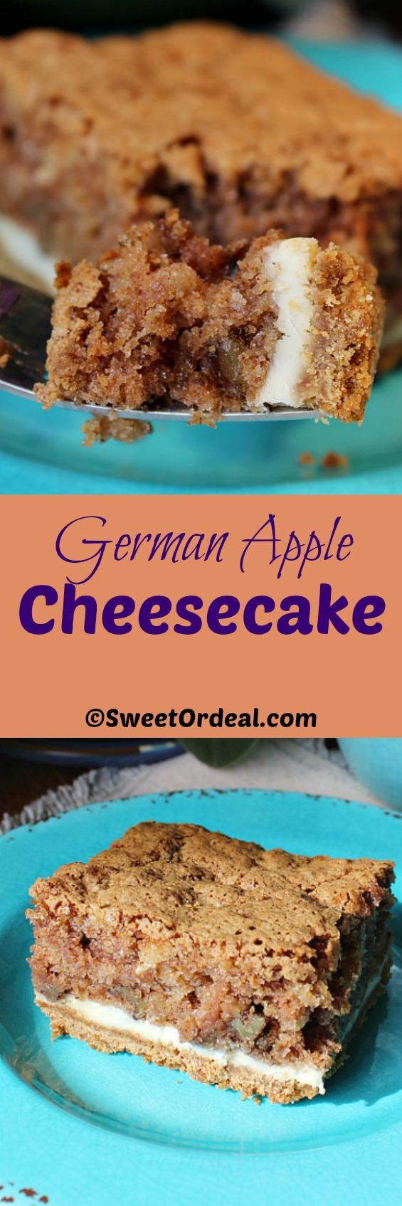 German Apple Cheesecake