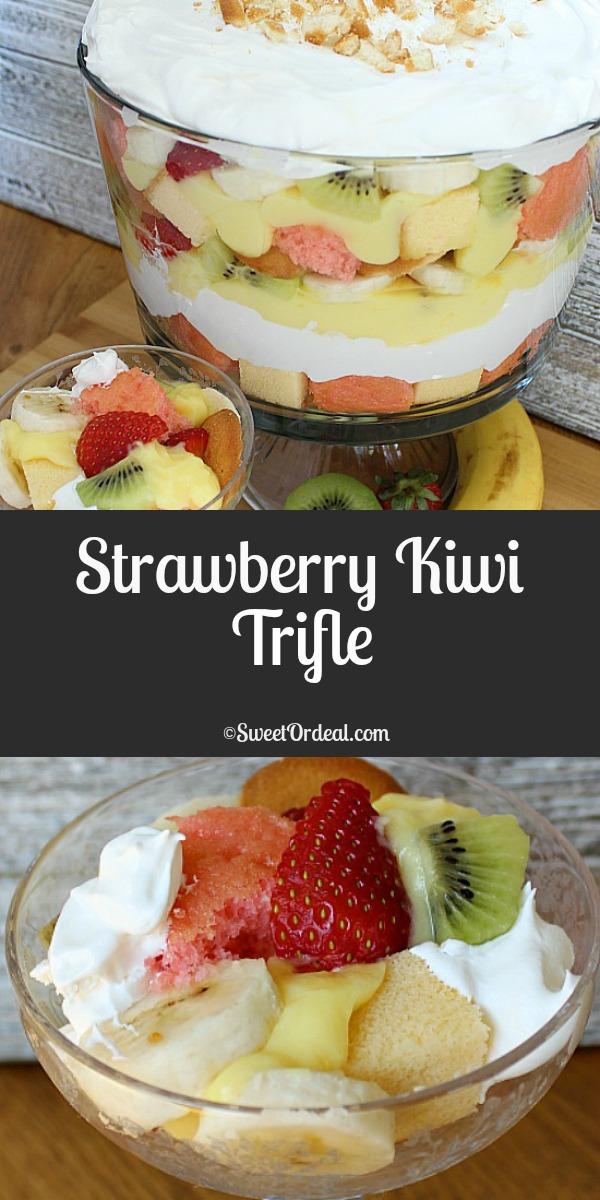 Strawberry Kiwi Trifle