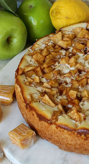 Caramel Apple Cream Cheese Tart