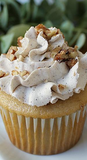 Brown Butter Pecan Cupcakes