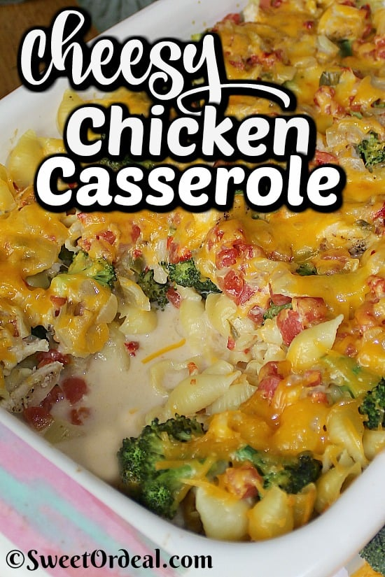 A casserole with melted cheese on top.