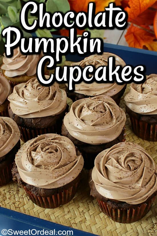 Cupcakes with rosette frosting.