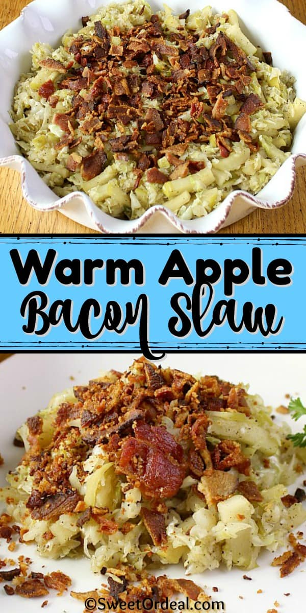 Slaw with bacon and apples.