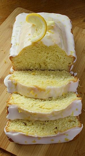 A sliced loaf of beautiful glazed bread.