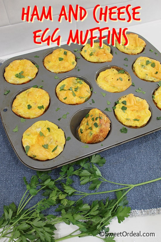 Filled 12-muffin pan.