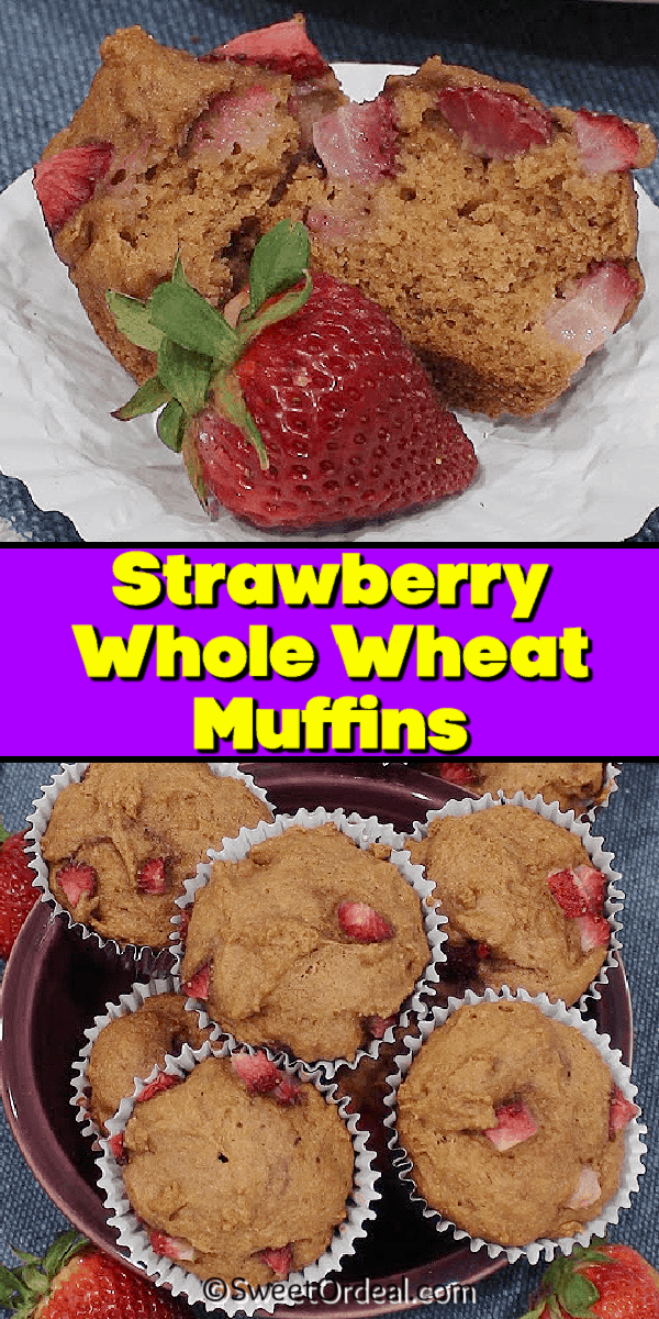 Muffins loaded with strawberry chunks.