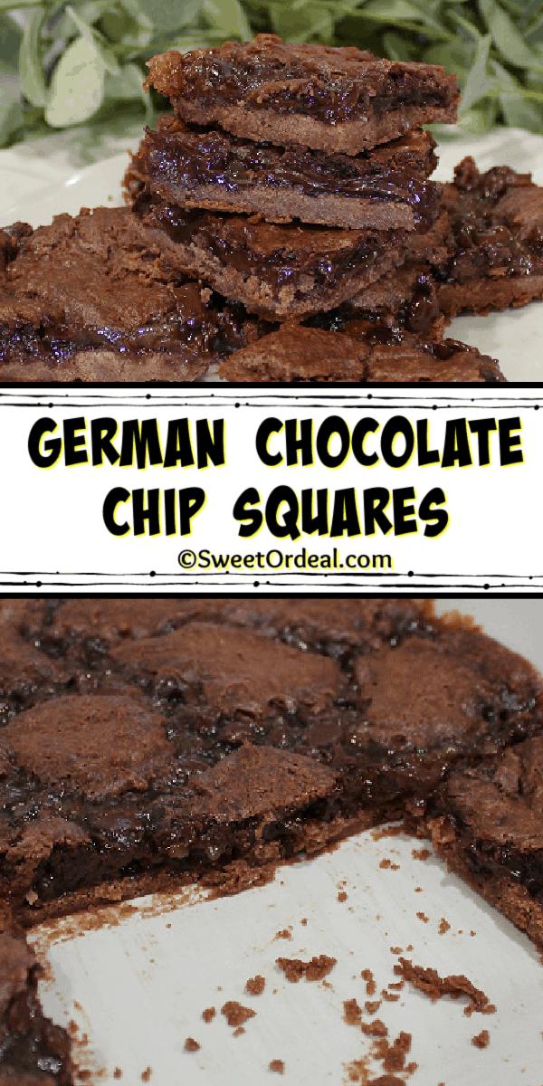 German Chocolate Chip Squares