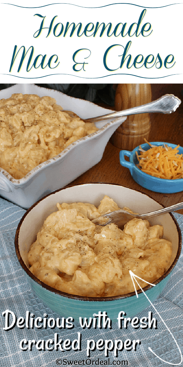 Fresh cracked pepper over pasta with cheese sauce.