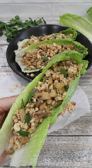 Mushroom Chicken Lettuce Wraps