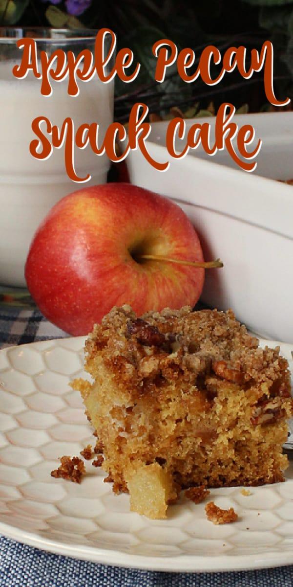 Apple Pecan Snack Cake