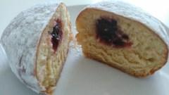 powdered sugar raspberry donut Mavericks Donut Company