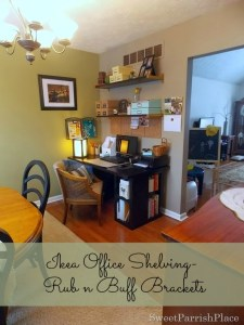 Dining Room/Office Progress- Shelving