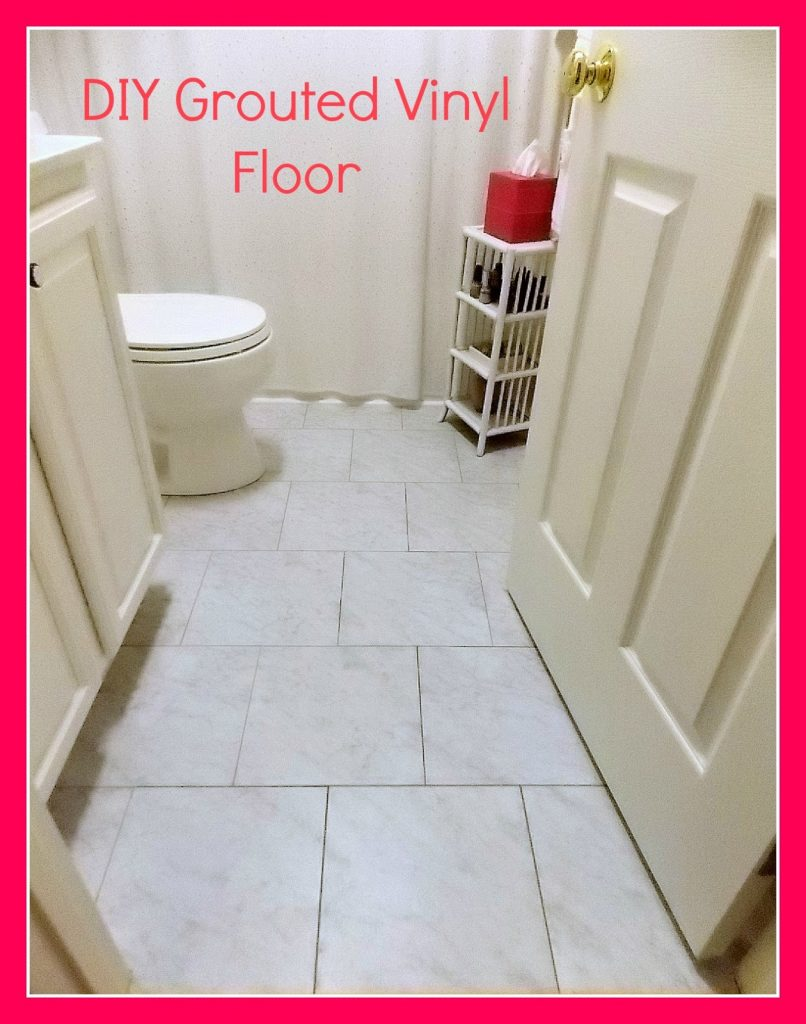 DIY Grouted Vinyl Floor eveal and utorial • Sweet Parrish Place - ^