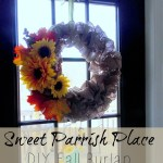 My DIY Burlap Wreath for Fall