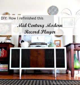 MCM Record Player Makeover- DIY Tutorial