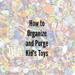 Organizing and Purging Kid's Toys