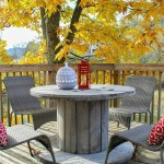 Trashtastic Treasures- Wooden Spool Table Makeover