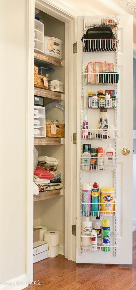 linen closet makeover-organize your home