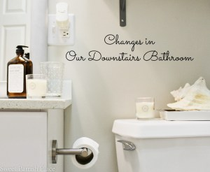 Changes in our Downstairs Bathroom