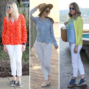6 Ways To Style White Pants | Style Blog Hop