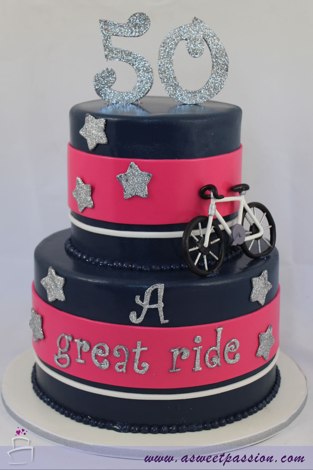 Cycling 50th Birthday Cake Sweet Passion Cakery