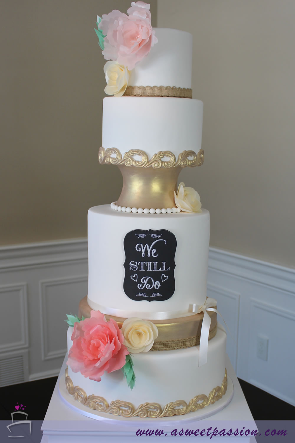 Vow Renewal Cake Sweet Passion Cakery
