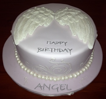 Angel Wings Birthday Cake Sweetpea Designer Cakes