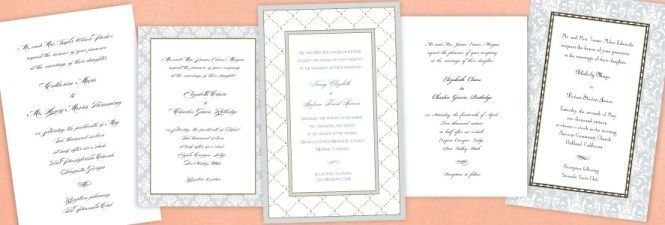 Pink Sweet Pea Flowers Wedding Invitation
