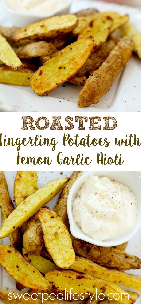 roasted fingerling potatoes with lemon garlic aioli