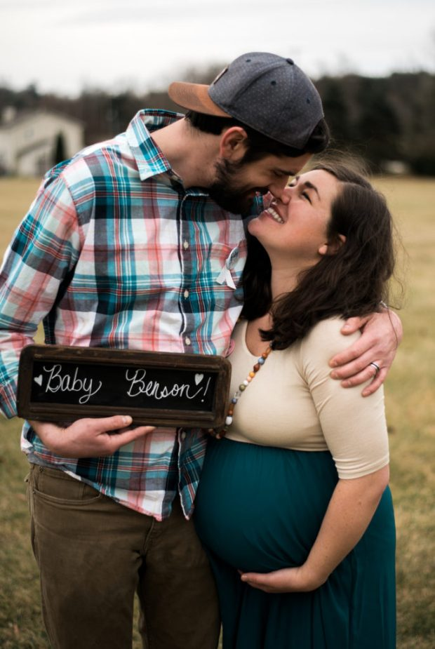 maternity wooden sign outdoors