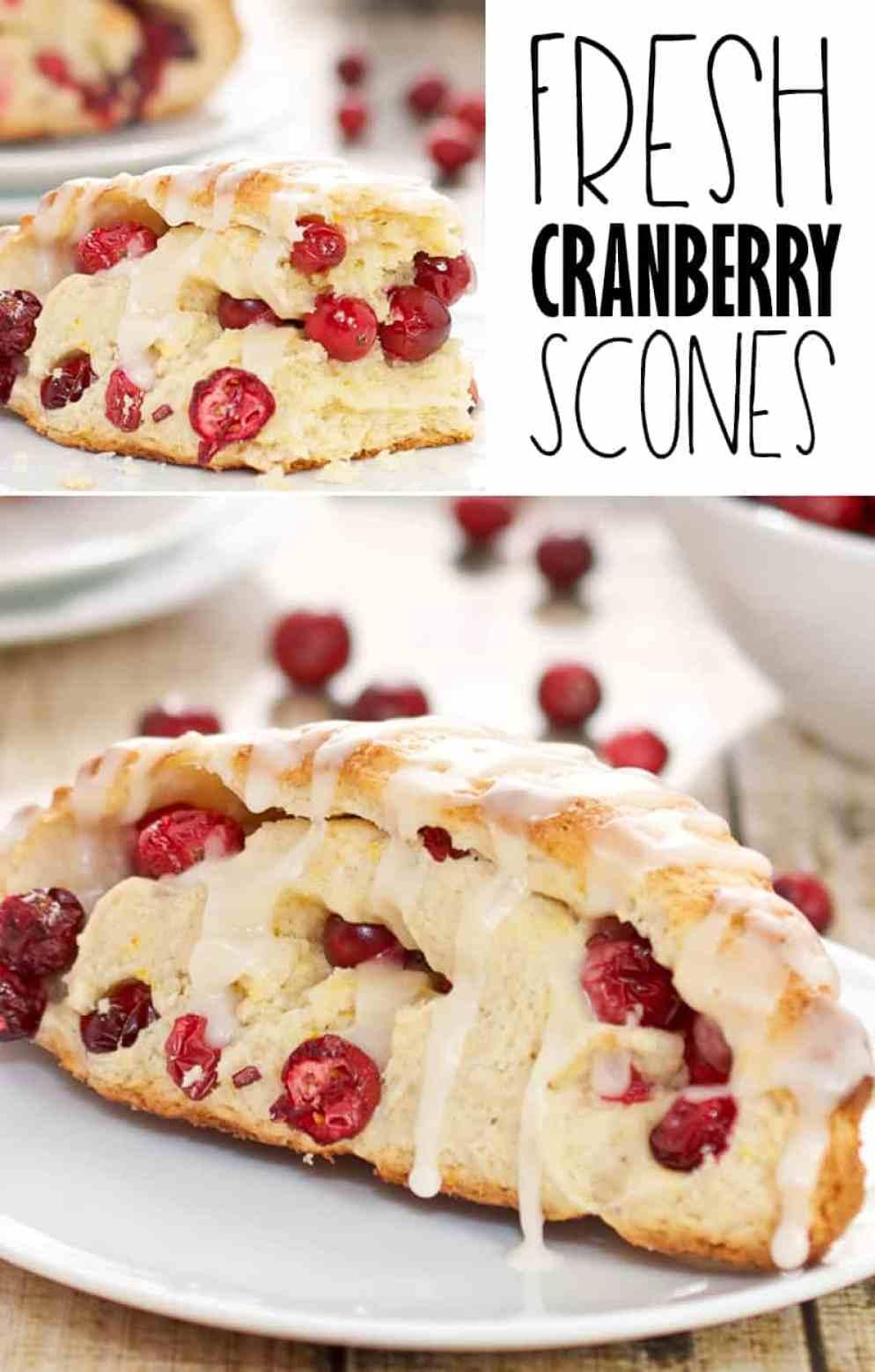 Simple Fresh Cranberry Scones