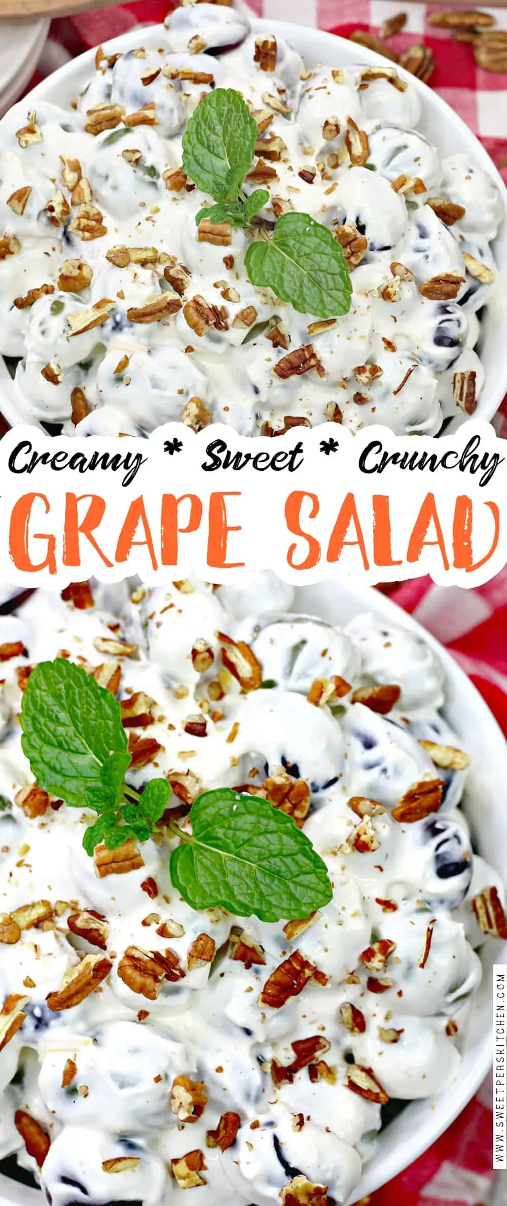 grape salad recipe, grape salad with cream cheese