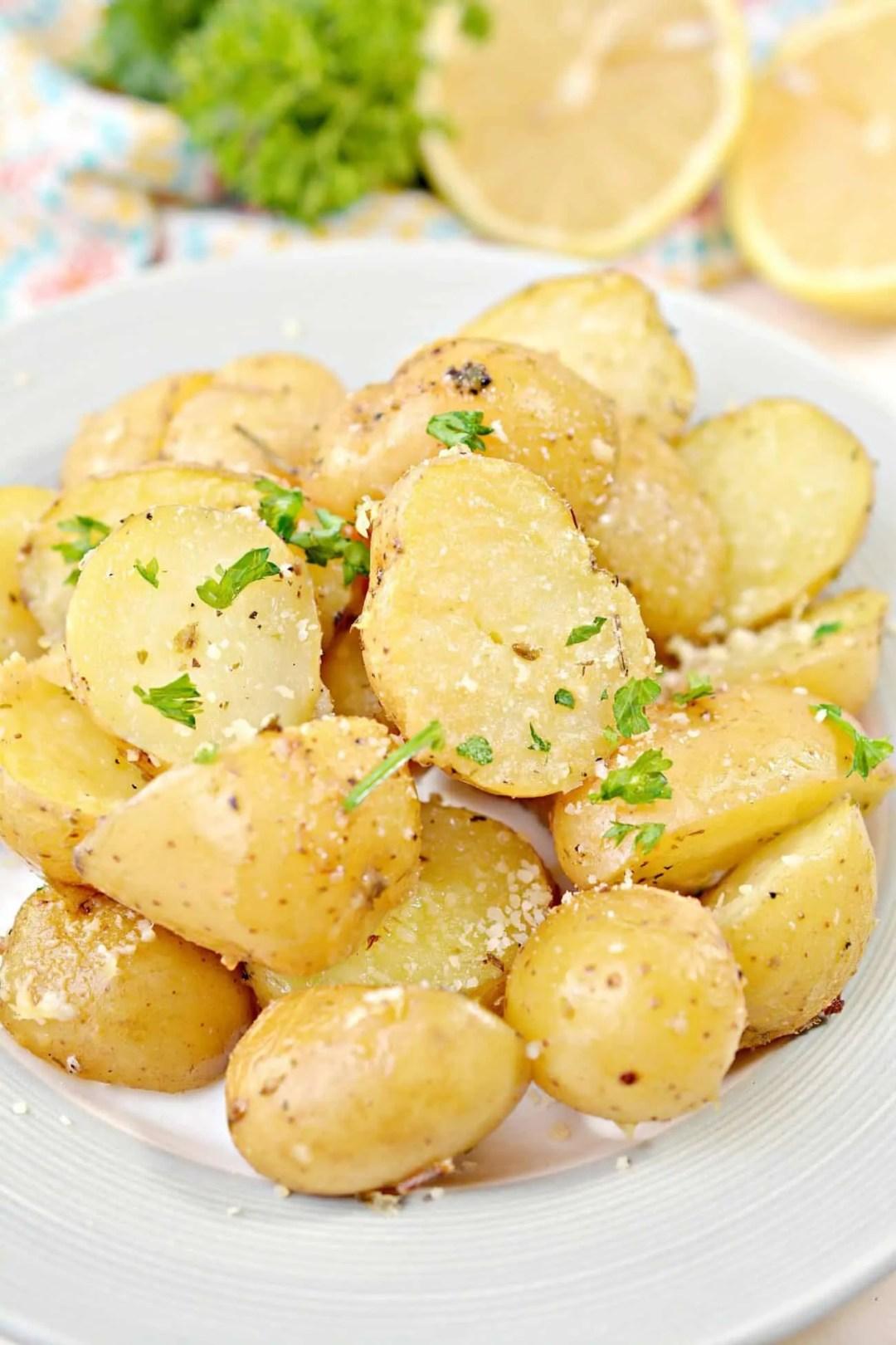 Greek Style Roasted Lemon Butter Potatoes