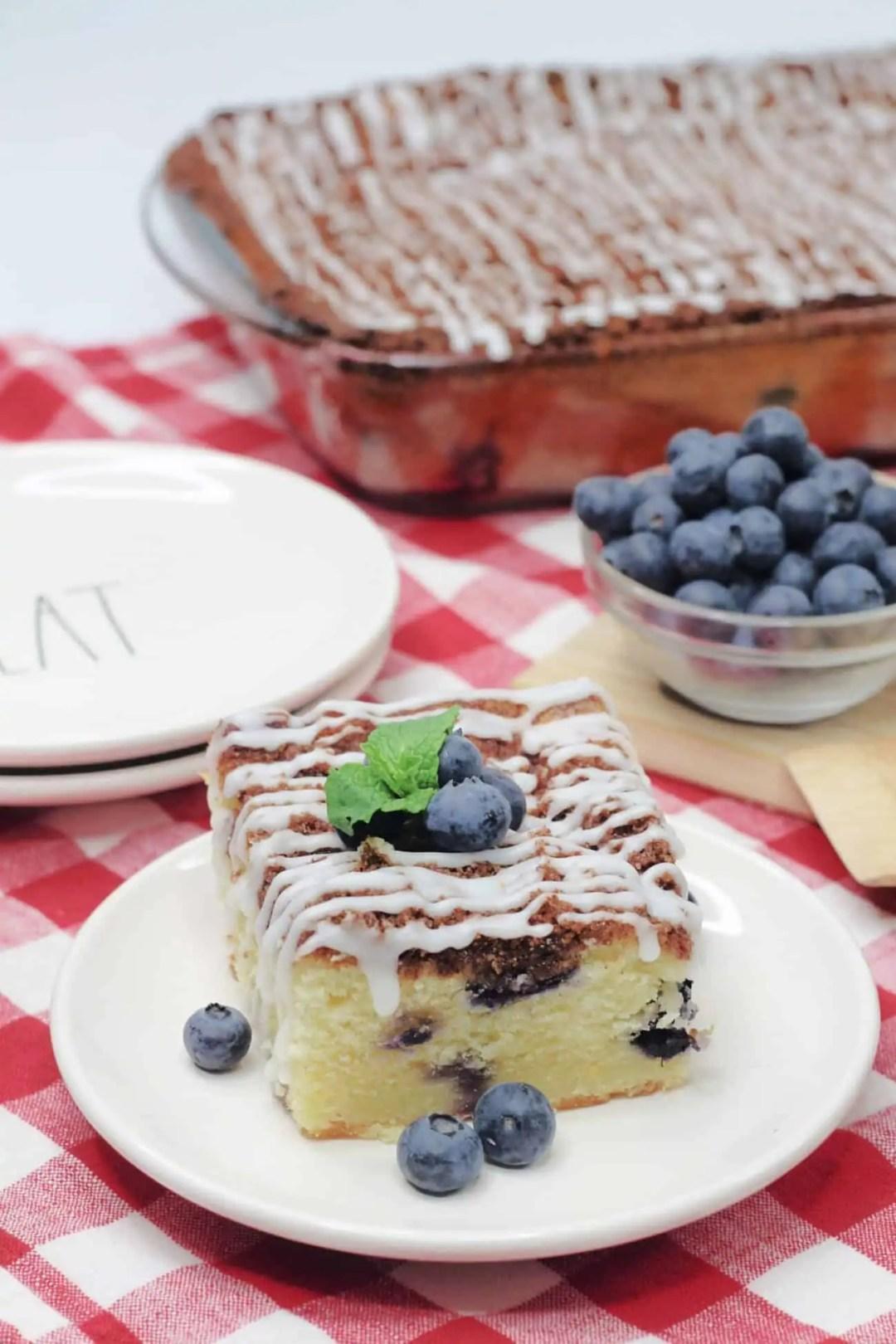 Easy Lemon Blueberry Breakfast Cake Recipe