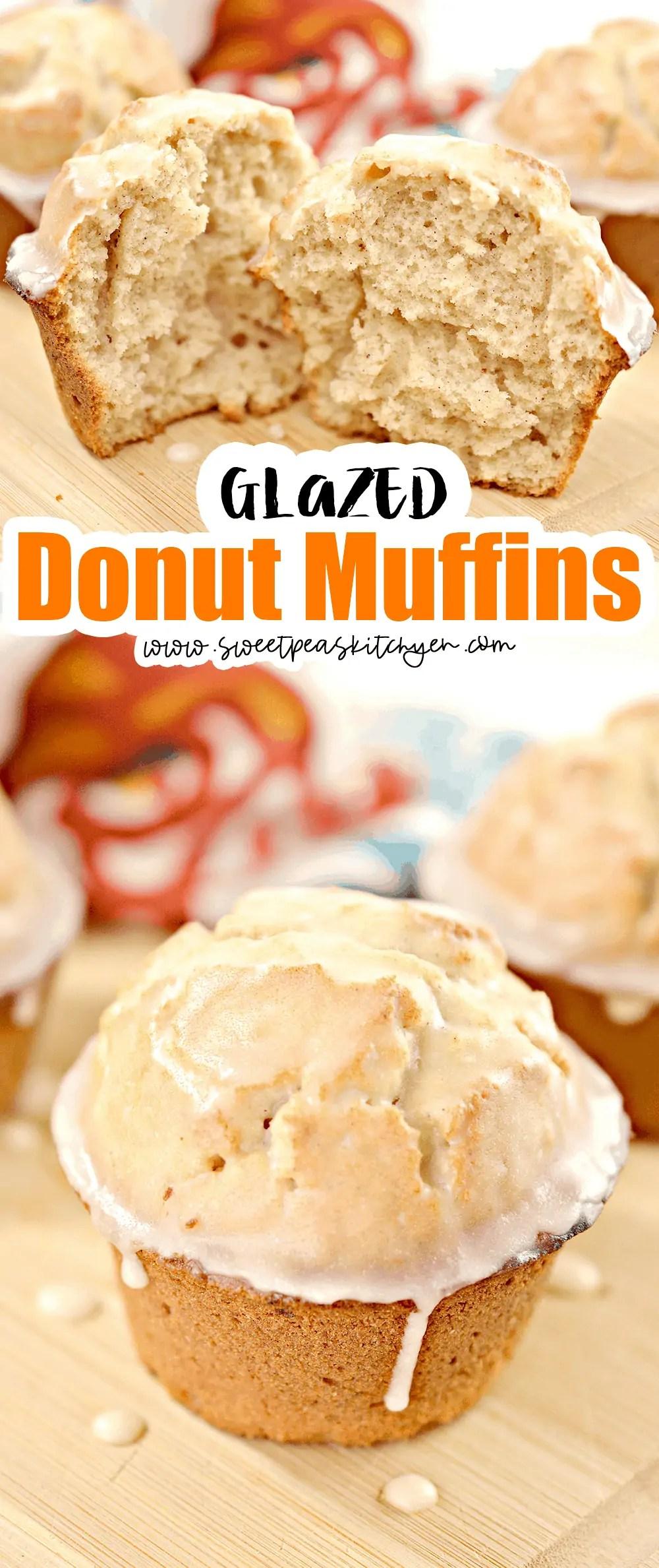Glazed Donut Muffins Pinterest PIN