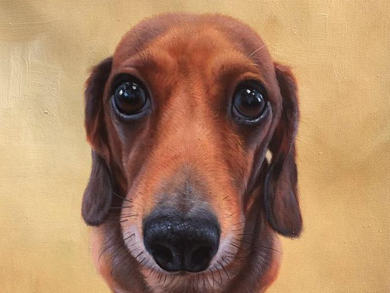 Oil painting of Gustav