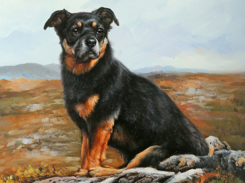 Oil painting of Ziid