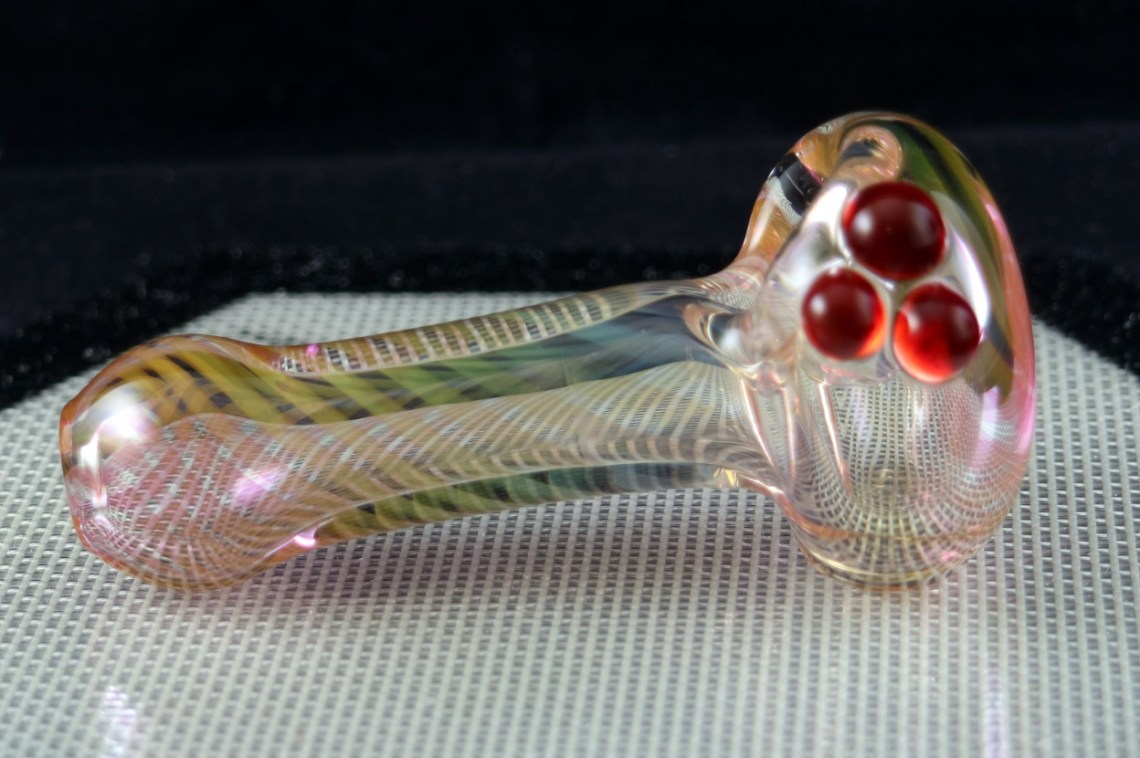 Gold and Silver Fumed Spoon