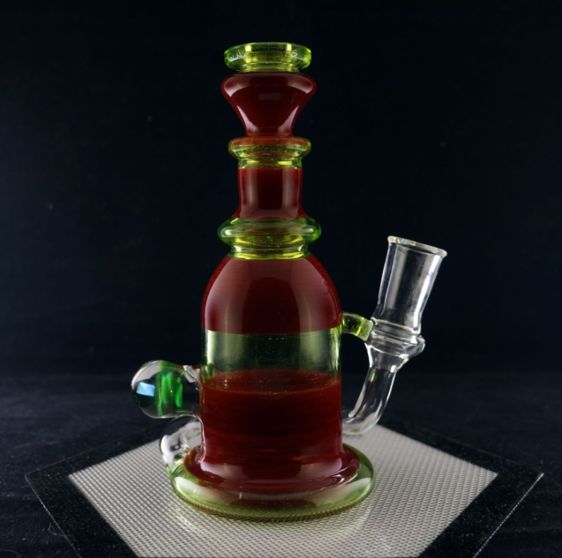 Philpot Glassworks Hand mixed Red and Illuminati Spinnerjet