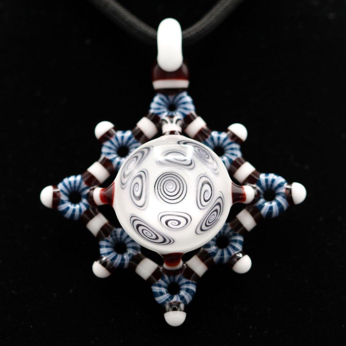 Kaja Glass – Microspiral Circletech Shield Pendant