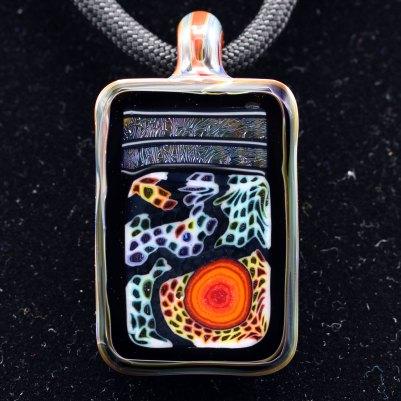 Kaj Beck Wonka Farmer Rectangular Micro Wonka Stone Pendant