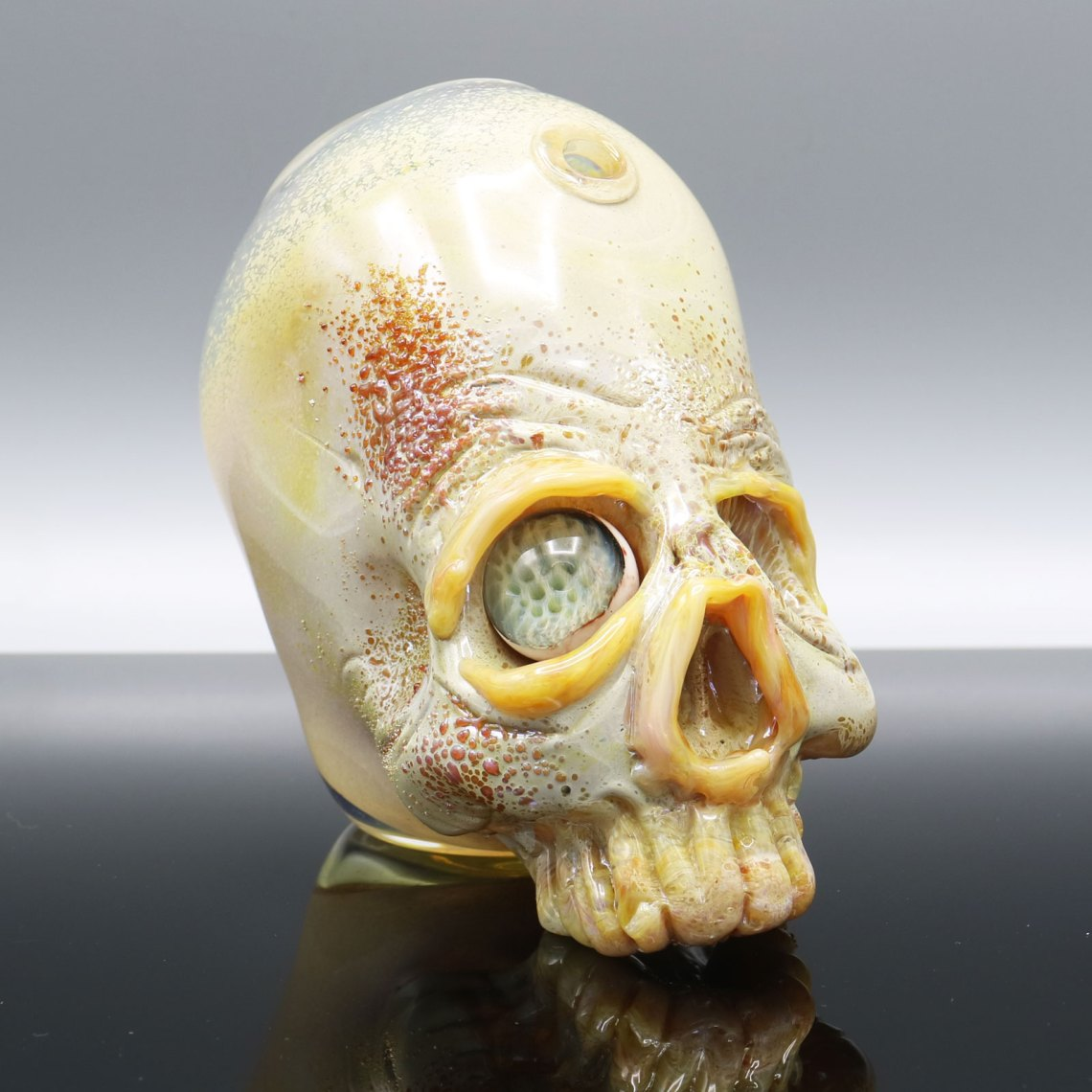 Jonny Carrcass – Ol One Eye Functional Skull Sculpture