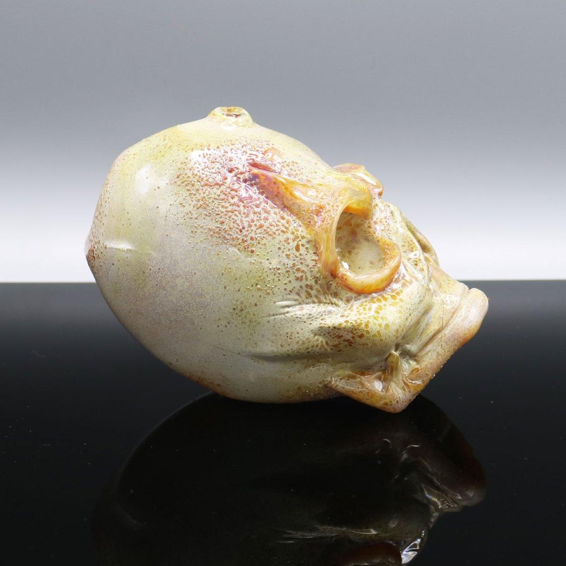 Jonny Carrcass – Mini Functional One Eyed Skull Sculpture