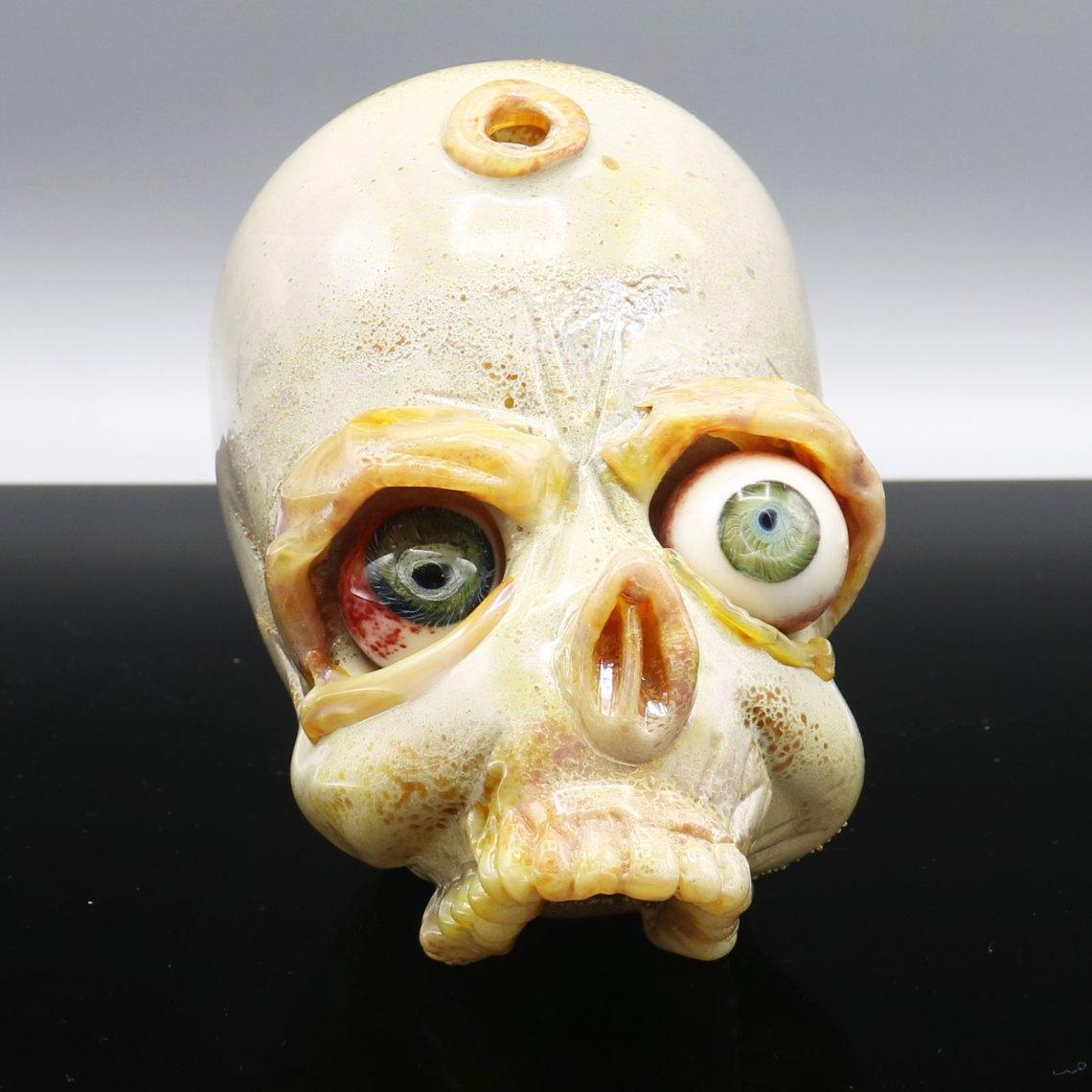 Jonny Carrcass – Two Eyed Functional Skull Sculpture