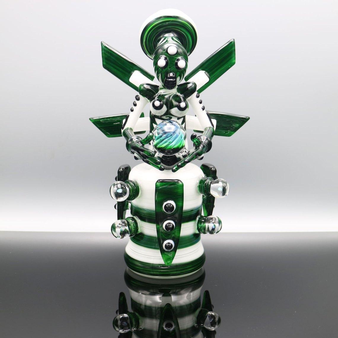 Kiebler – Experimental Green and Star White Functional Mech Set