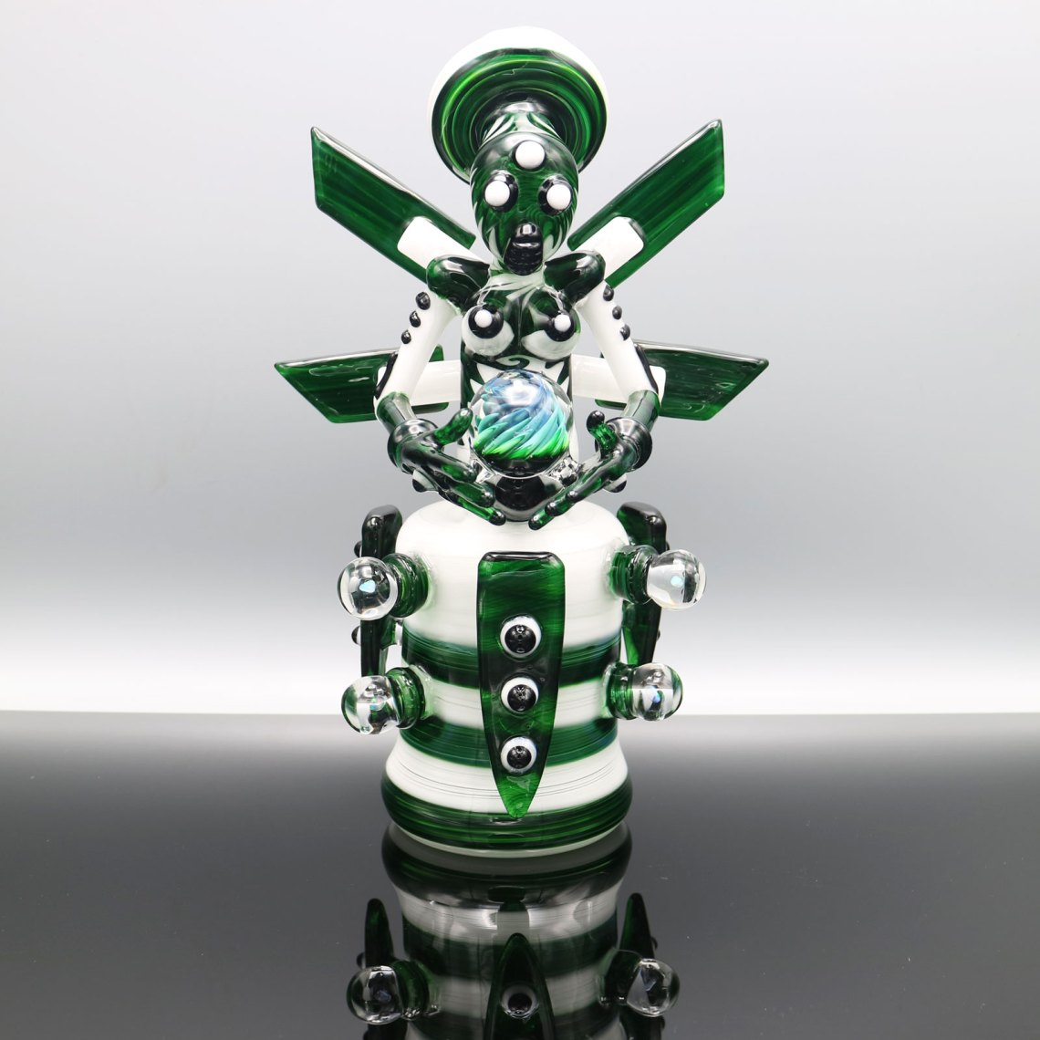 Kiebler – Experimental Green and Star White Functional Mech Set