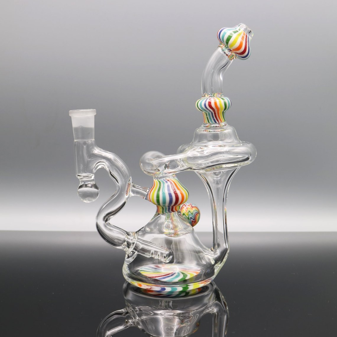Chappell Glass – Rainbow Recycler with Bead Attachment