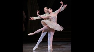 NYCB principal dancers Tiler Peck as Princess Aurora and Tyler Angle as Prince Désiré in The Sleeping Beauty