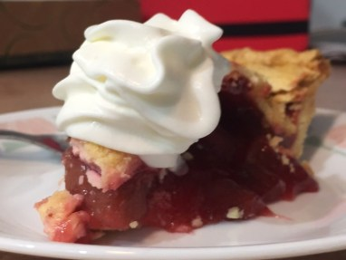 Yummy strawberry rhubarb pie!